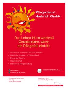 Pflegedienst Herbrich GmbH Anzeige